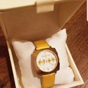 💛BCBG MaxAzria Rhinestone Watch